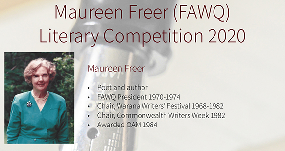 FAWQ – 2020 Maureen Freer Awards