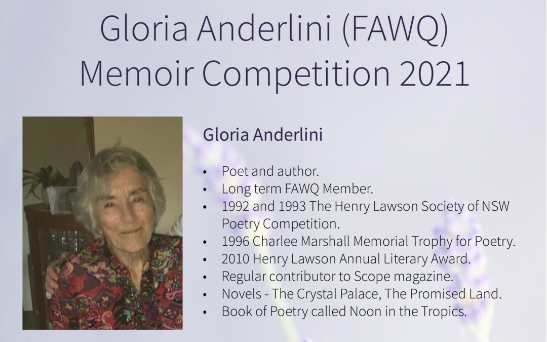 Gloria Anderlini Memoir Competition – 2021